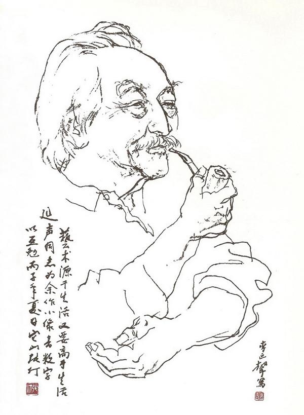 青岛五四广场雕塑速写